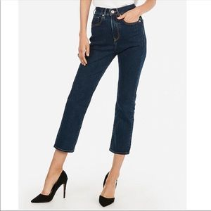 Express Cropped Straight Super High Rise Jeans 10R